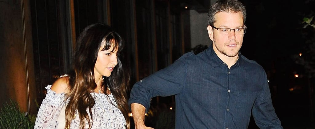Matt Damon and His Wife Hold Hands During Adorable Date Night