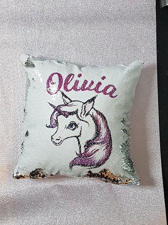 Sequin Unicorn Pillows Popsugar Moms