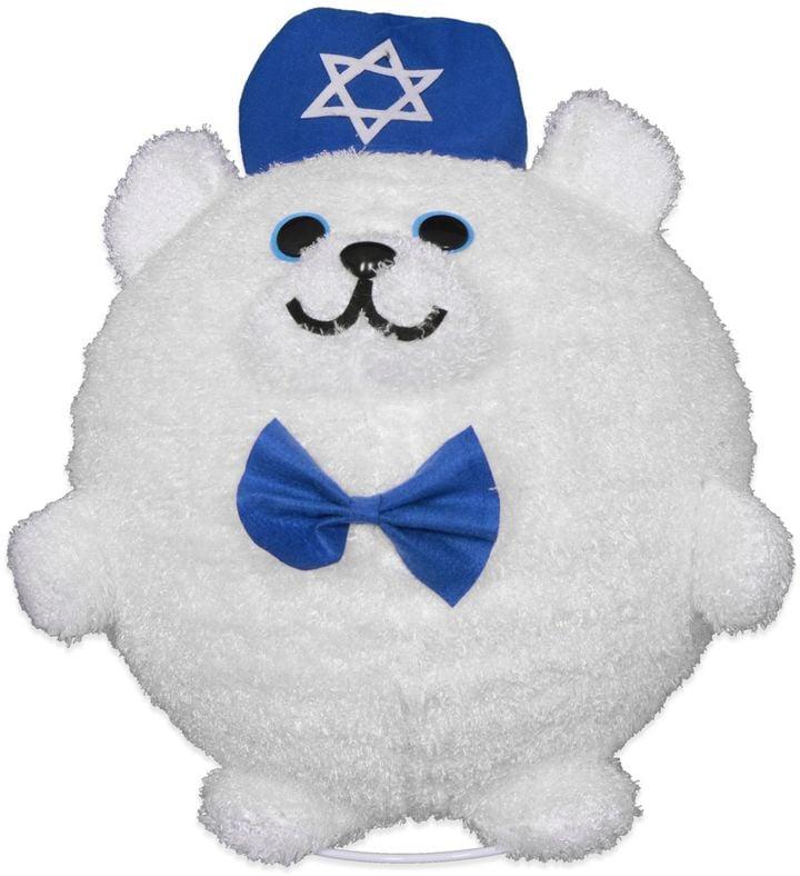 Lighted Hanukkah Bear