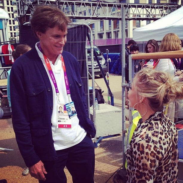 Shawn Johnson met Olympian Bruce Jenner in London.  Source: Instagram user shawnjohn08