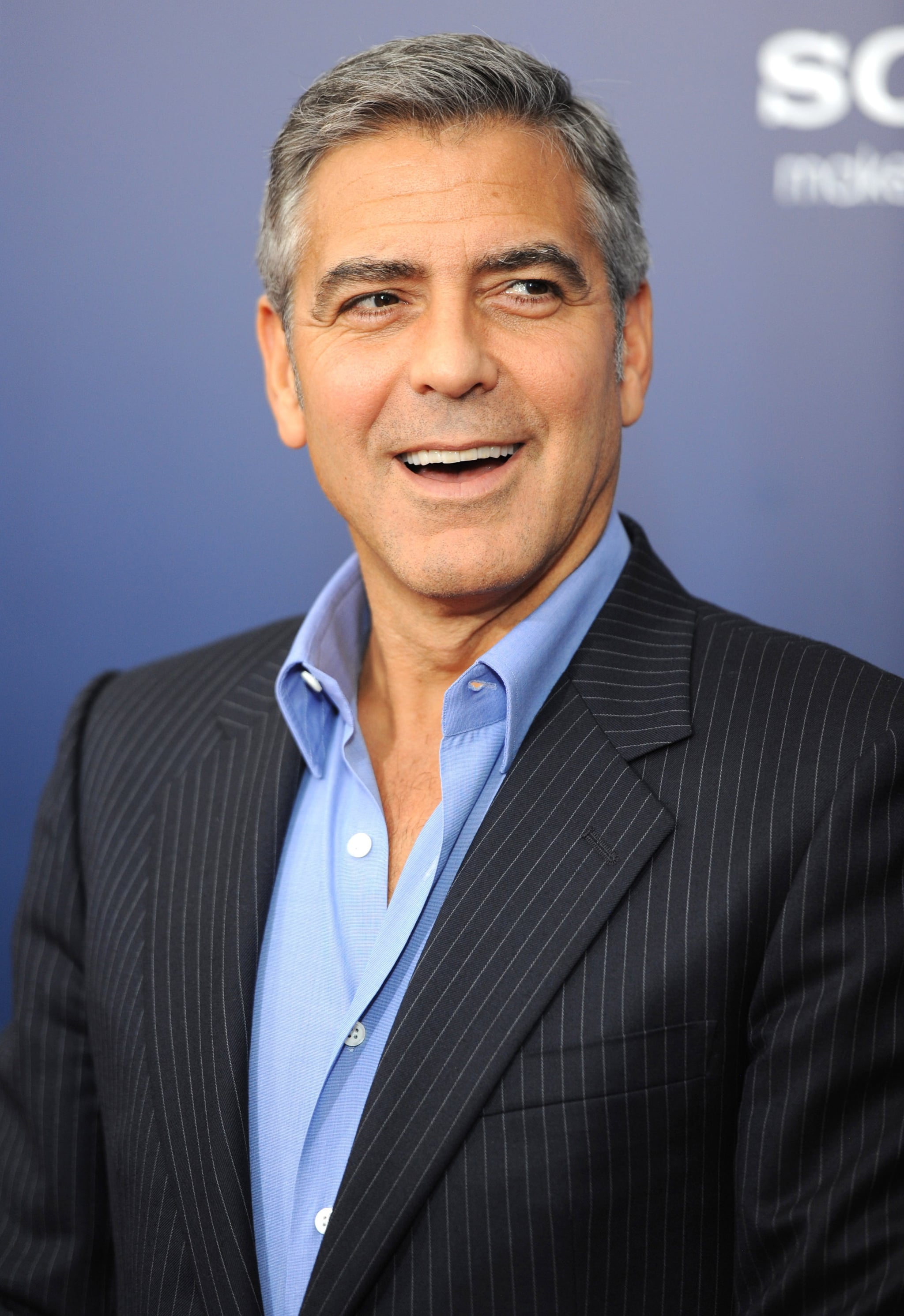 George Clooney had a lot to smile about at The Ides of March.