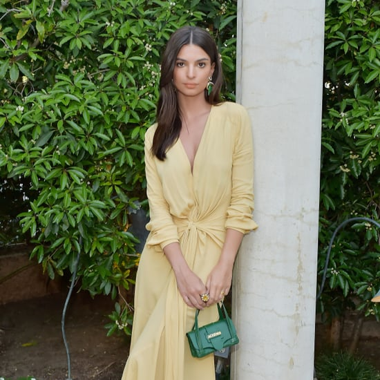 Emily Ratajkowski Yellow Dress The Daily Front Row 2018