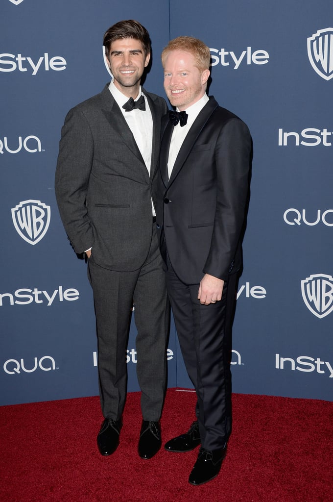 Jesse Tyler Ferguson and Justin Mikita coupled up on the red carpet.