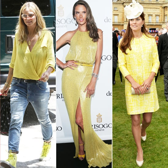 Celebrities Wearing Yellow Clothing and Accessories
