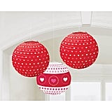 Valentine Printed Paper Lanterns