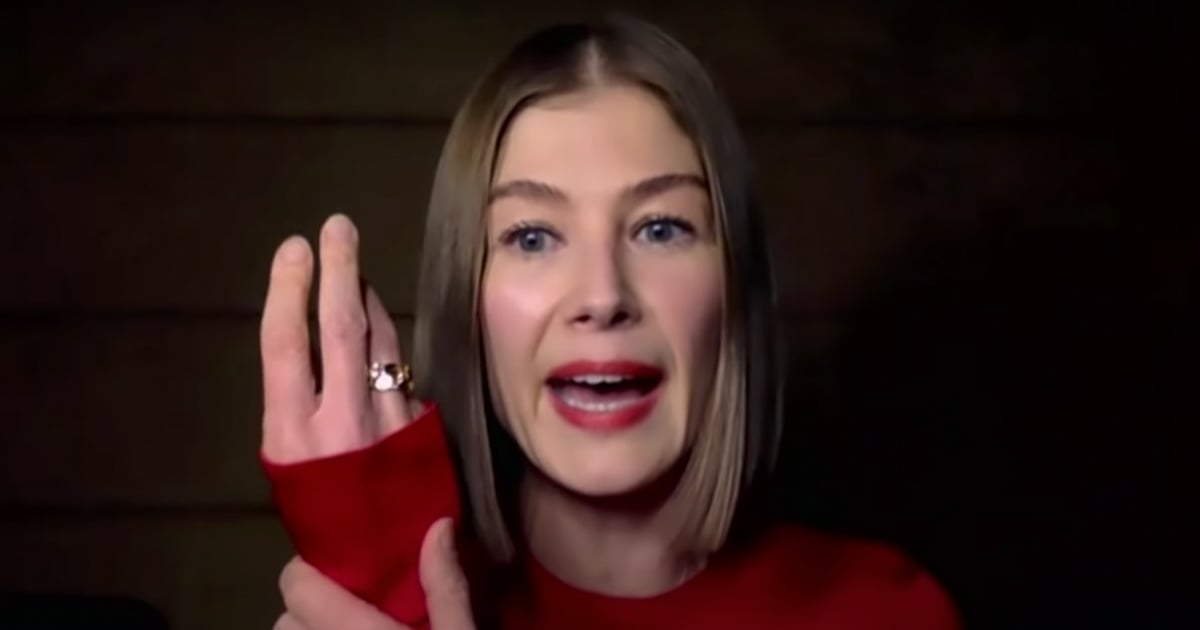 Rosamund Pike Says She Buries Awards in Her Garden   Video ...