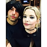 Ashley Benson's makeup made it look like her lips were sewn shut in 2014.