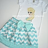 Elsa the Snow Queen Shirt and Skirt