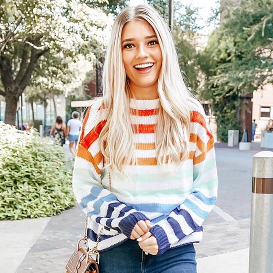 Popular Rainbow Striped Sweater on Amazon Fashion
