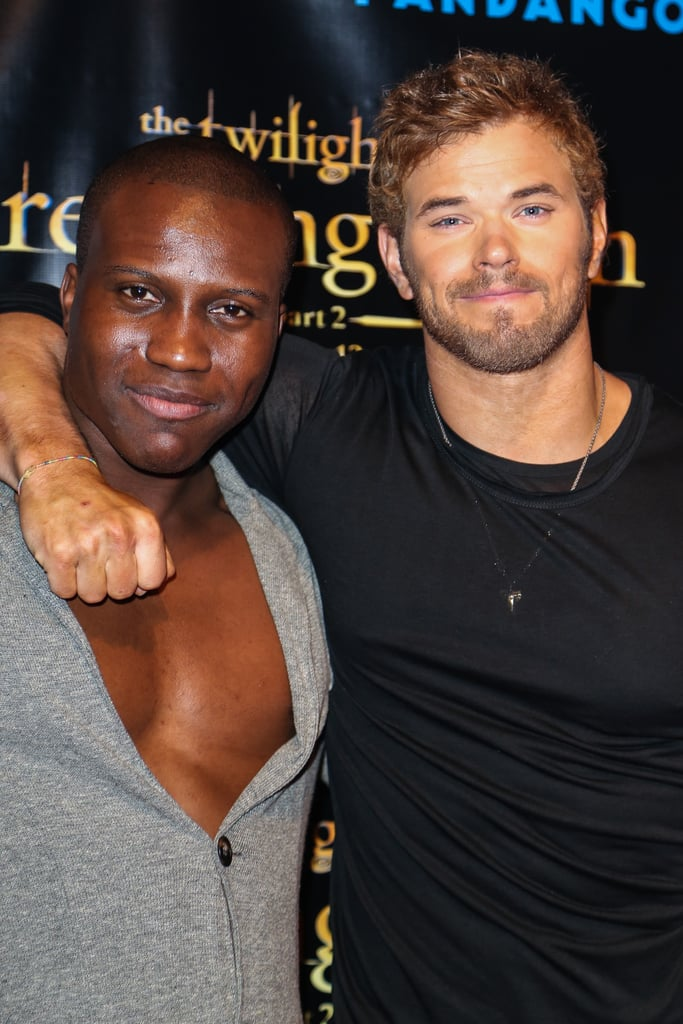 Kellan Lutz hung out with Amadou Ly at the Breaking Dawn Part 2 party at Comic-Con.