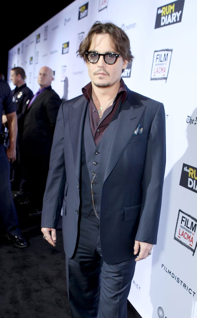 Johnny Depp took a spin on the red carpet at the LACMA.