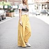 We're loving wide-leg pants as a comfy alternative to skirts.