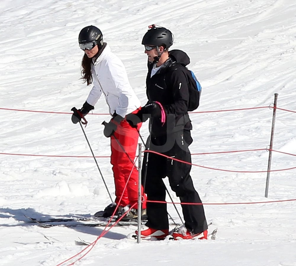 Kate Middleton Wore A Red And White Ski Outfit For