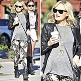 Steal Malin Akerman's edgy street-style mix.