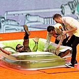 Commando finally got slimed after avoiding it for the beginning of the night.