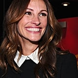 Julia Roberts smiled for the press at the event, held in Mann's Chinese Theatre.