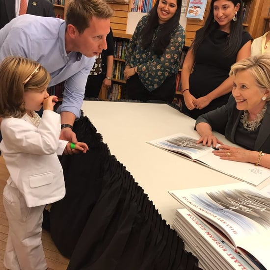 Girl in Pantsuit Meets Hillary Clinton at Book Signing