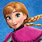 Close-Up of Anna From Frozen