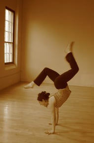 learn how to do a handstand  popsugar fitness