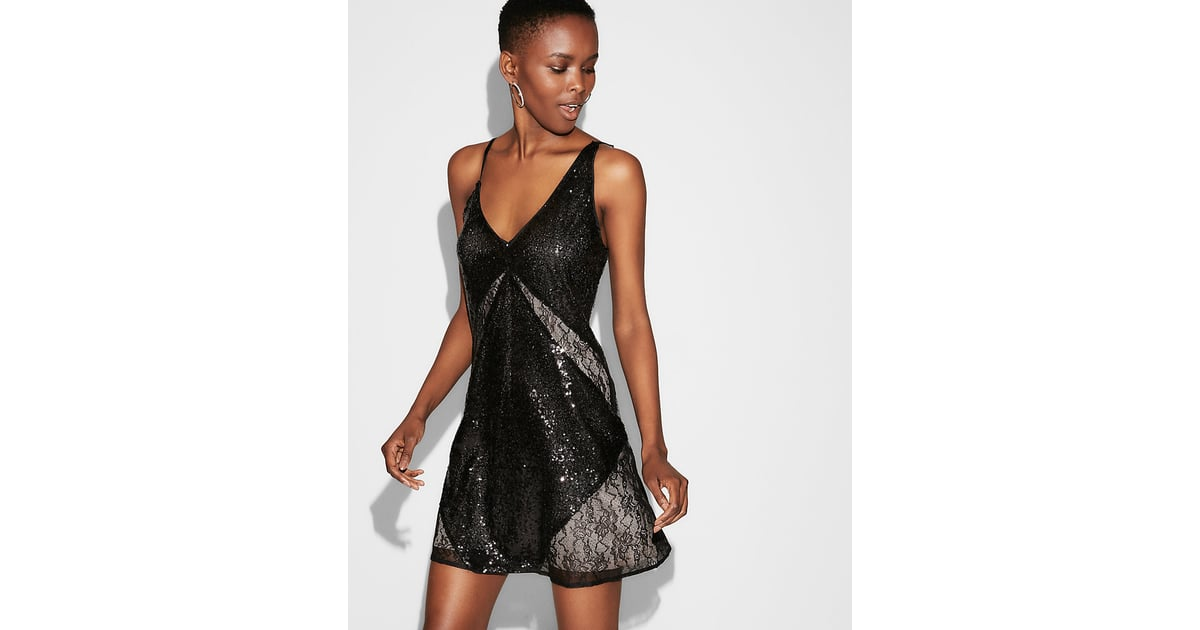 Express Sequin Lace Shift Dress   Holiday Dresses From Express ...