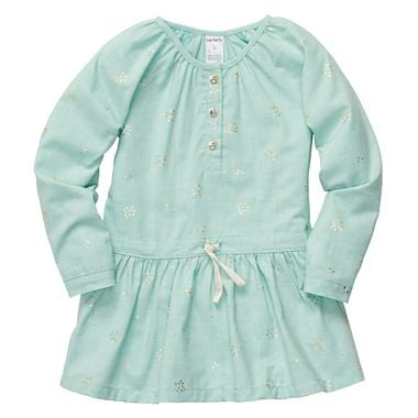 A sweet flannel tunic ($13) is perfect for indoor play.
