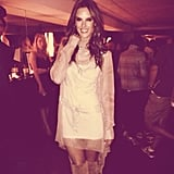 Alessandra Ambrosio shared a photo from an NYFW party. Source: Instagram user alessandraambrosio