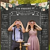 Custom Wedding Booth Chalkboard