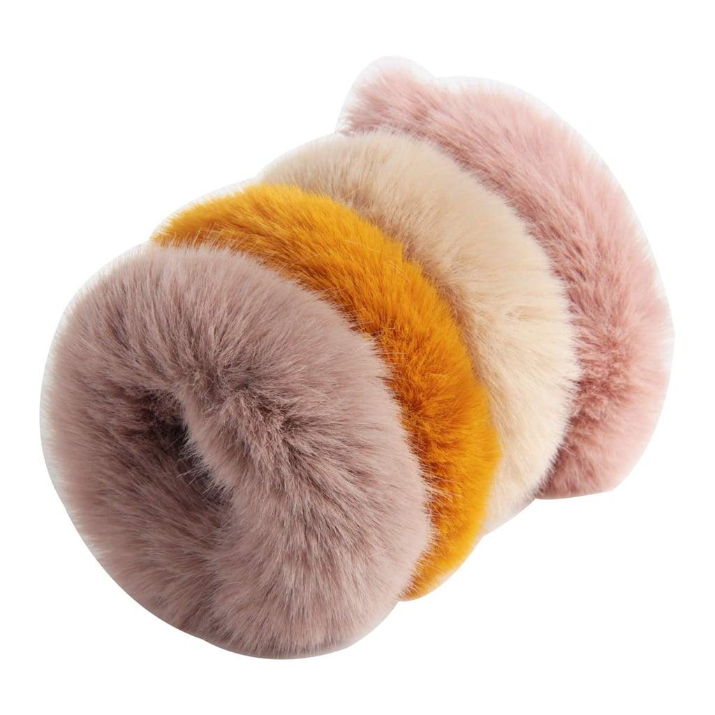 Sbyure Furry Hair Scrunchies