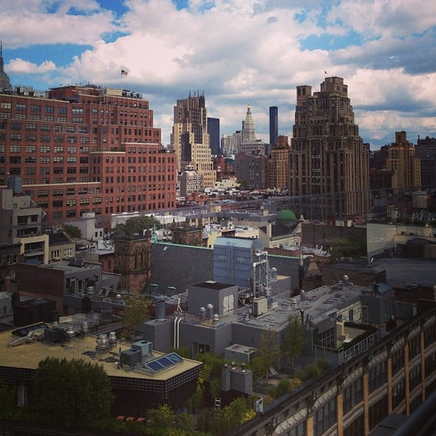 A look at New York City from the rooftop of the Gansevoort Hotel, where WiFi was plentiful.