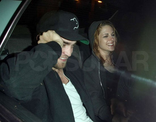 Pictures of Robert Pattinson and Kristen Stewart Smiling Together on a Date at Matsuhisa in LA