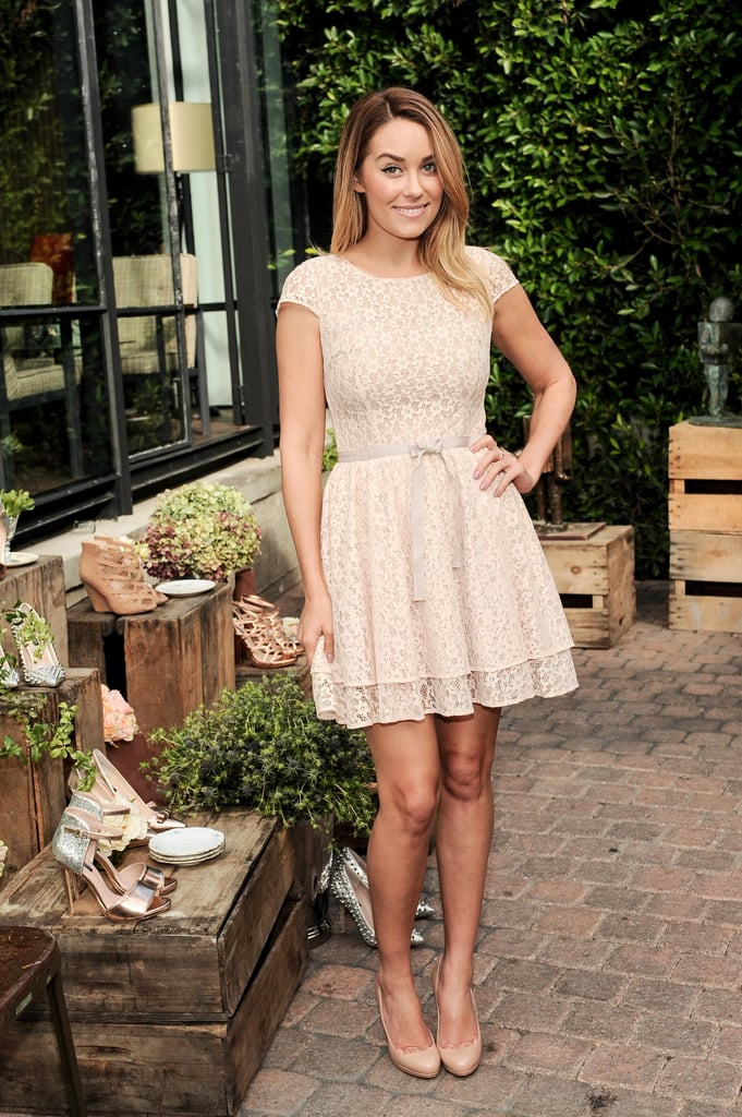 Lauren Conrad wore a lace dress.