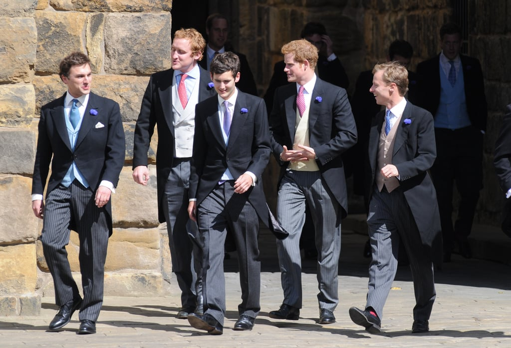 Prince Harry wore tails.