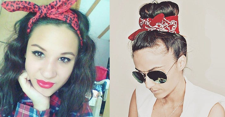 how to style hair with a bandana how to wear a bandana in your hair popsugar 7071