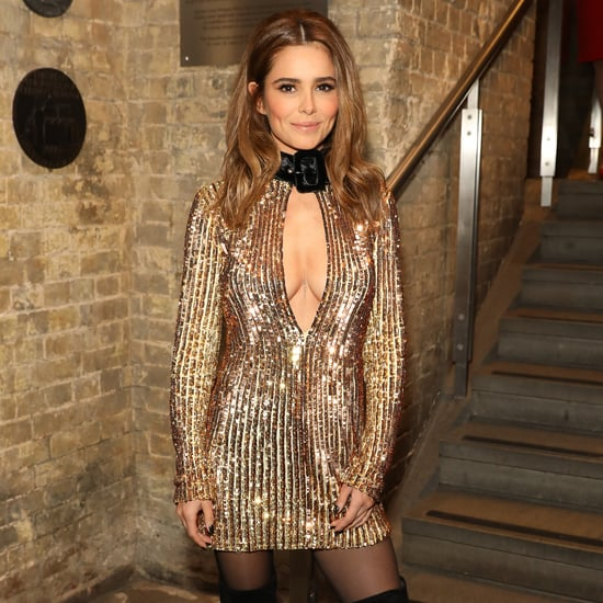 Cheryl Cole's Gold The Attico Dress at the Attitude Awards