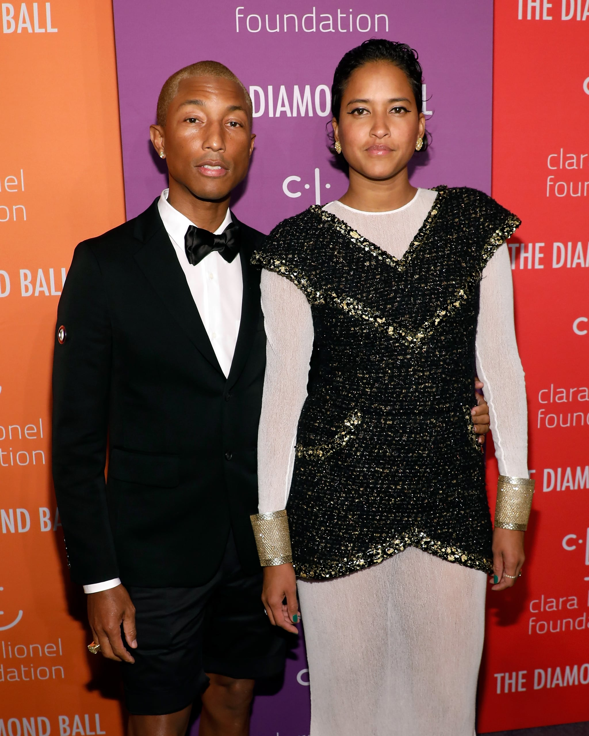 NEW YORK, NEW YORK - SEPTEMBER 12: Pharrell Williams and Helen Lasichanh attend the 5th Annual Diamond Ball benefiting the Clara Lionel Foundation at Cipriani Wall Street on September 12, 2019 in New York City. (Photo by Taylor Hill/WireImage)