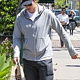 Tom Brady walked through Brentwood after a trip to Whole Foods.