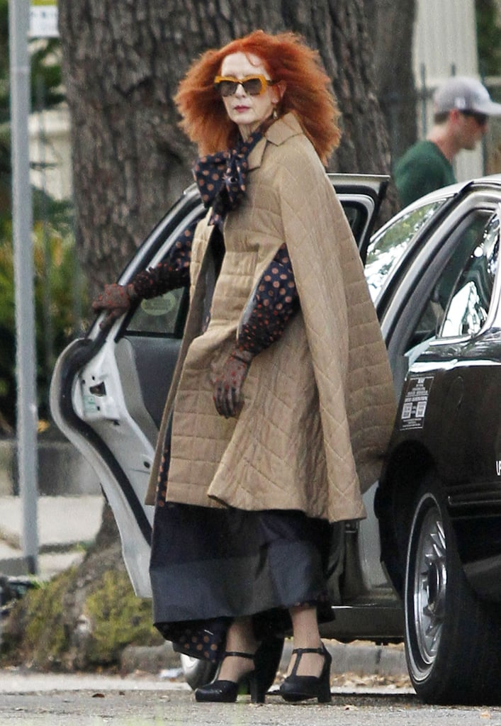 Frances Conroy got witchy on the New Orleans set of American Horror Story: Coven on Monday.