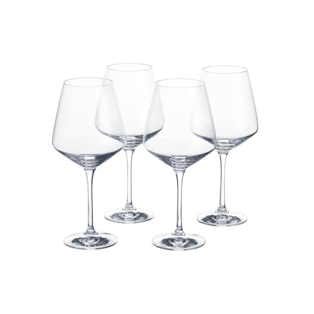 Home Decorators Collection Genoa 26.5 fl. oz. Lead-Free Crystal Red Wine Glasses