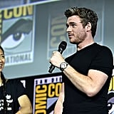 Pictured: Chloé Zhao and Richard Madden at San Diego Comic-Con.