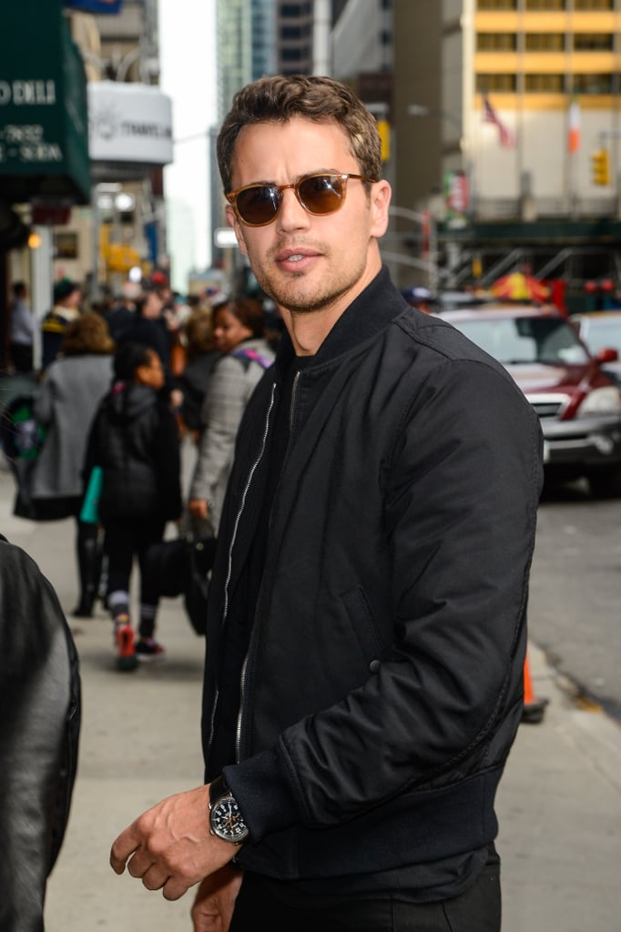 Theo James Out in NYC Photos March 2016