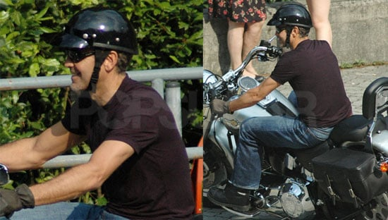 George Looks Hot On a Motorcycle, No Surprises Here