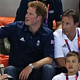 Prince Harry was in attendance at the swimming finals at the Olympics.