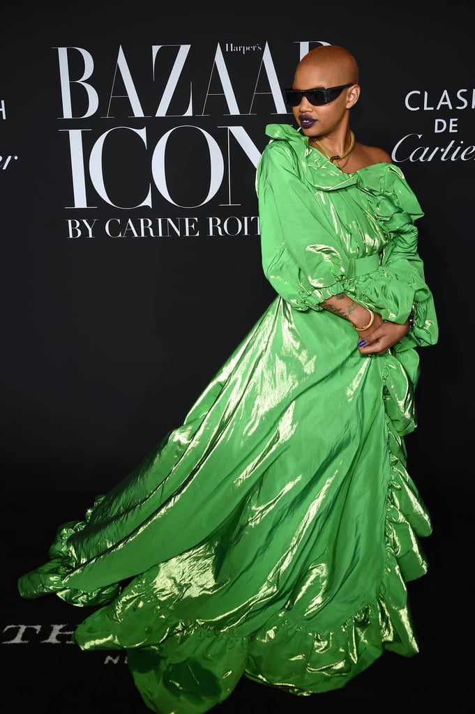 Slick Woods at the Harper's Bazaar ICONS Party During New York Fashion Week