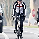 In February, Conan O'Brien looked like a serious biker during a journey in LA's Brentwood neighborhood.