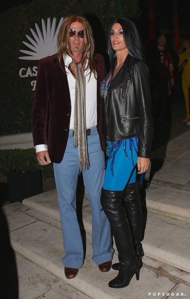 Cindy Crawford and Rande Gerber as Cher and Gregg Allman