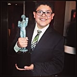 Modern Family star Rico Rodriguez posed with his award. Source: Instagram user starringrico