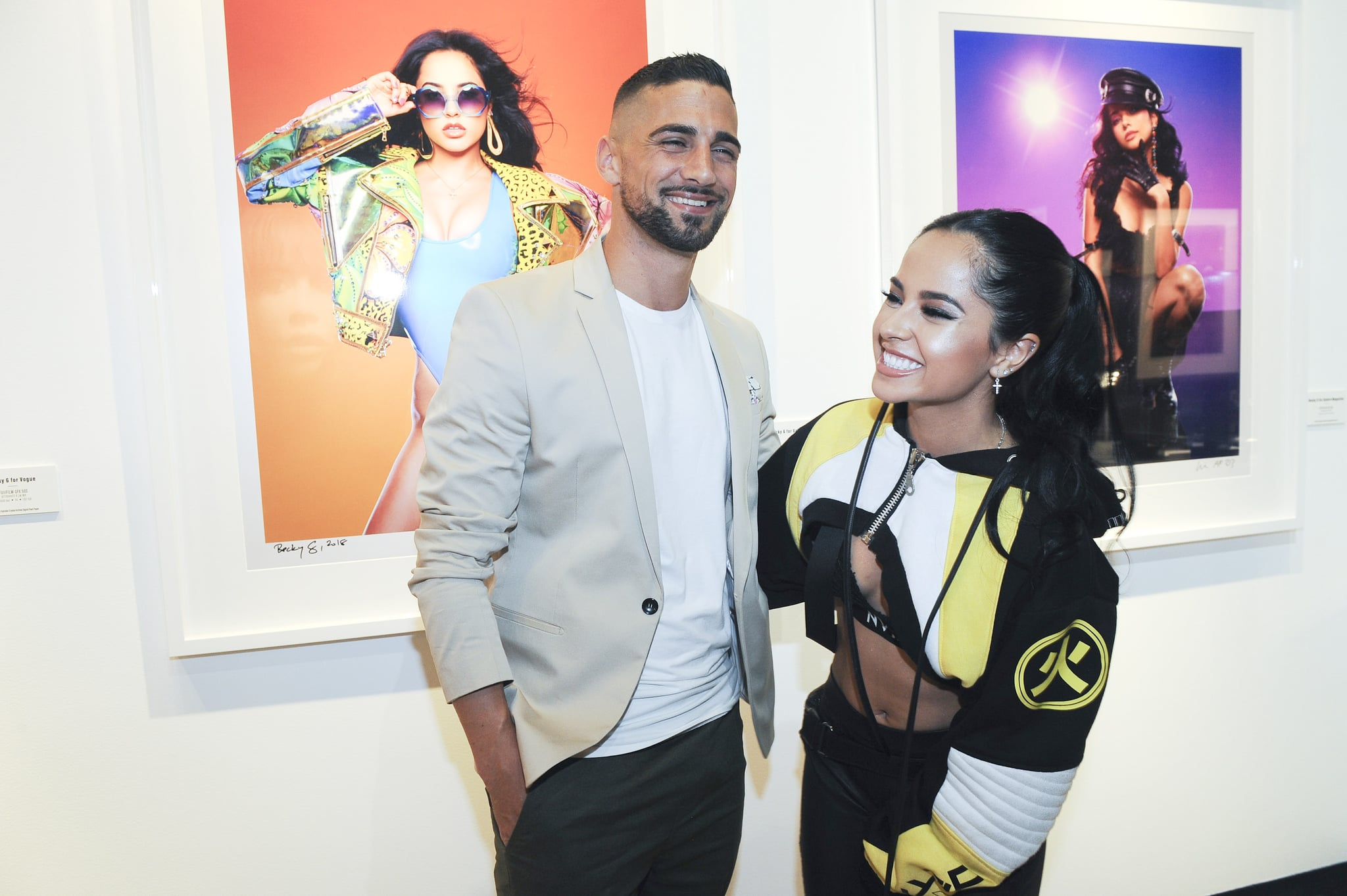 LOS ANGELES, CA - JUNE 14:  Sebastian Lletget and Becky G attend the 2000s Exhibition Opening at Mouche Gallery, Sponsored by Fujifilm on June 14, 2018 in Los Angeles, California. (Photo by Amy Graves/Getty Images for CPM)