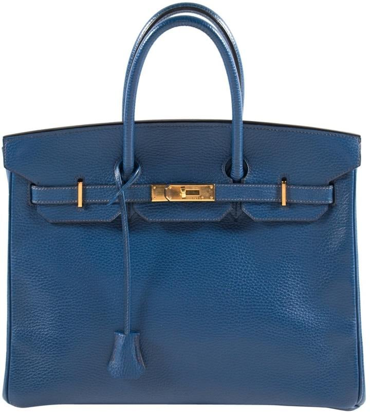 Hermes Birkin leather handbag