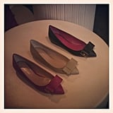 A Mulberry-shoe trifecta at the boutique opening in SF.