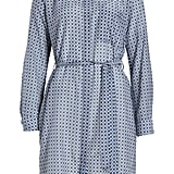 Equipment Ravena Print Long Sleeve Silk Blend Shirtdress